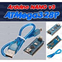 Arduino Nano V3 Con Atmega328 + Cable Usb