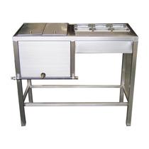 Mueble Para Preparar Hot-dogs En Inoxidable De 50x110 Cms