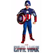 Disfraz Capitan America Talla 7-8 Nuevo!