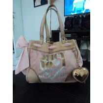 Bolsa Juicy Couture Piel Y Velour 100% Autentica