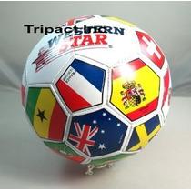 Balón De Fútbol De La Copa Mundial De La Fifa # 5 Banderas S
