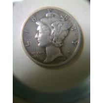 Moneda Antigua Dime Mercury 1944d