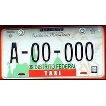 Rento Placas Taxi Df $1600.00