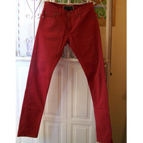 Pantalon Levis Rojo Skinny Hombre Original Usado Oferta