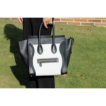 Bolso Celine Blanco Negro Handbag Envio Gratis