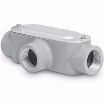 Condulet Conexion Tipo T 3/4 Pulgada Con Tapa Voltech 46980
