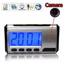 Reloj De Alarma Dvr Camara Seguridad Oculta Deteccion Mov.