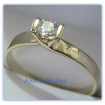 Anillos Comprmiso Oro 10kt Diamante Ruso Envio Gratis