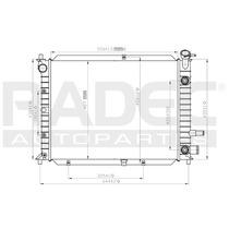 Radiador Escort/zx2 97-03 L4 2.0 Lts Automatico