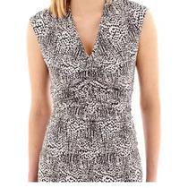 Blusa Stretch Animal Print X L Casual Ejecutiva Mujer