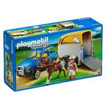 Playmobil 5223 Vehiculo Remolque Con Ponis Entregas Metepec