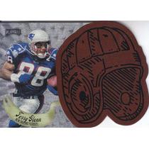 1997 Playoff Leather Helmet Terry Glenn Wr Patriots