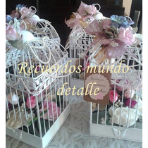 Jaulas Vintage Para Centros De Mesa Boda Bautizo Xv Años 10%