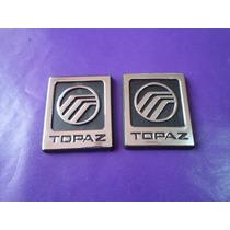 Emblemas Topaz Ford Ghia Laterales