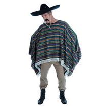 Mexicano Poncho - Adultos Hombres Vaquero Disfraz