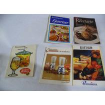 Lote Recetarios De Cocina Osterizer, Carta Blanca Y Mas