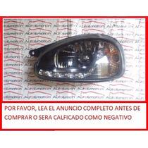 Faro Para Chevy C1 Con Leds Fondo Negro 94-03 Depotivos