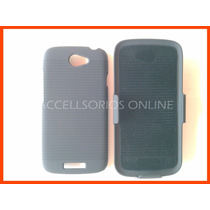 Htc One S Or Ville Combo Clip Case + Funda Dura + Mica
