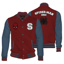 Varsity Jacket Spiderman Mascara De Latex