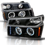 Par Faros Lupa Led Negros Ojo Gmc Canyon 2007 2008 2009 2010 GMC Canyon