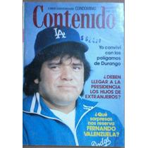 Fernando Valenzuela, Revista Contenido, 1981, A Color.