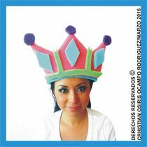 Sombrero Espuma Corona Boda Fiesta Xv Dj Lentes Peluca