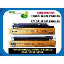 Toner Konica Minolta Bizhub C300 C352 C352 (b/c/m/y) Sp0