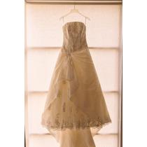 Vestido Novia Ivory Talla 4 Tirante Diseñado Incluye Velo