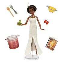 Disney Tiana Y El Sapo Tiana Deluxe Talking Doll Set
