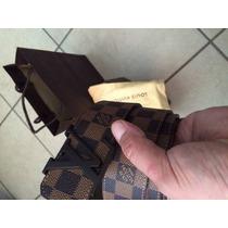 Cinto Cinturon Louis Vuitton Ebene 100% Original Talla 32