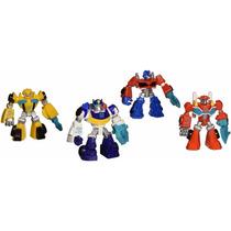 Playskool Heroes 4 Figuras De Transformers Blakhelmet Sp