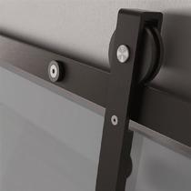 Sistema Deslizable P/puertas De Cristal 60kg. Kit Importado.