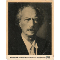 Fotografía Original Ignace Jan Paderewski Pianista Red Seal