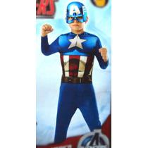 Capitan America Disfraz Para Niño - Avengers