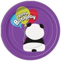 Unique 7 Cumpleaños De La Panda Postre Placas (8 Count) Mul