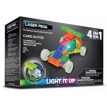 Laser Pegs 4 En 1 Cars Autos , Juego De Construccion Niños