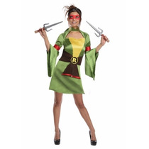 Oferta Disfraz De Tortuga Ninja Geisha Rafael Para Damas Xs