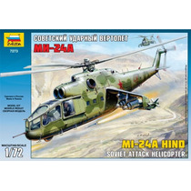Zvezda Helicoptero Mi-24a Hind Sovietico 1/72 Armar Pintar