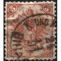 2846 Bosnia H Archiduque F José Sc#6 Escudo 5k Usado 1879-94