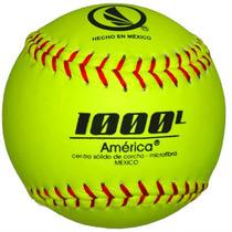 Pelota América 1000l De Softbol Microfibra Limon Docena