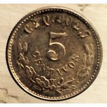 Moneda 5 Centavos Culiacan 1901 Q Sin Circular Plata Excelen