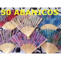 Paquete 50 Abanicos Boda Bautizo Xv Años Eventos Recuerdos