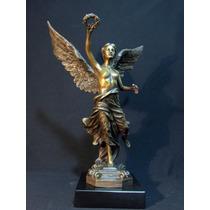 Escultura Del Angel De Independencia 100% Bronce Solido