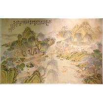 Lienzo Tela Arte Chino Pintura Dinastía Qing 50 X 78 Cm