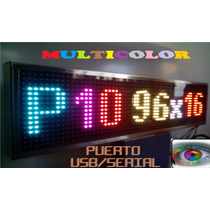Led Display Anuncio Pantalla P10 Rgb Multicolor Programable