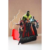 Centros De Mesa Avengers Vengadores Centros Madera Infantil