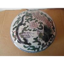 Estuche Alhajero Porcelana Oriental China Dragon Y Fenix