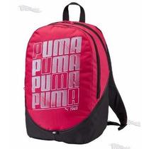 Mochila Puma Fucsia / Negro 100% Original