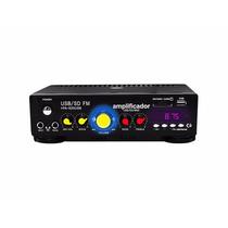Amplificador Profesional Para Perifoneo 150w Entradas Usb/sd