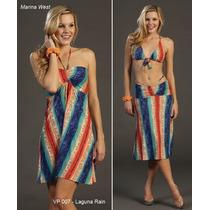 Vestido Para Playa Marca Marina West Mod. Laguna Rain T-l/xl
